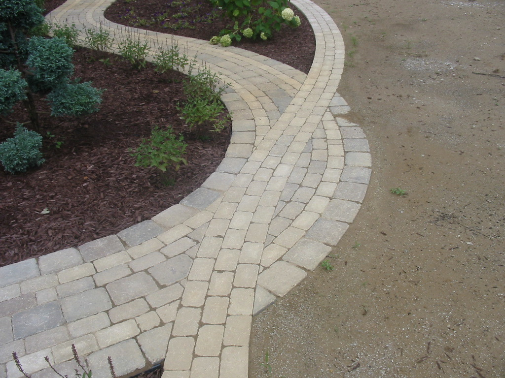 Landscaping With Pavers For Edging : Paver edging simons landscaping chesterton in